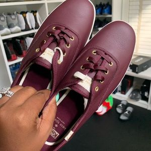 Keds. Burgundy size 8.5. Brand new. No box.LEATHER